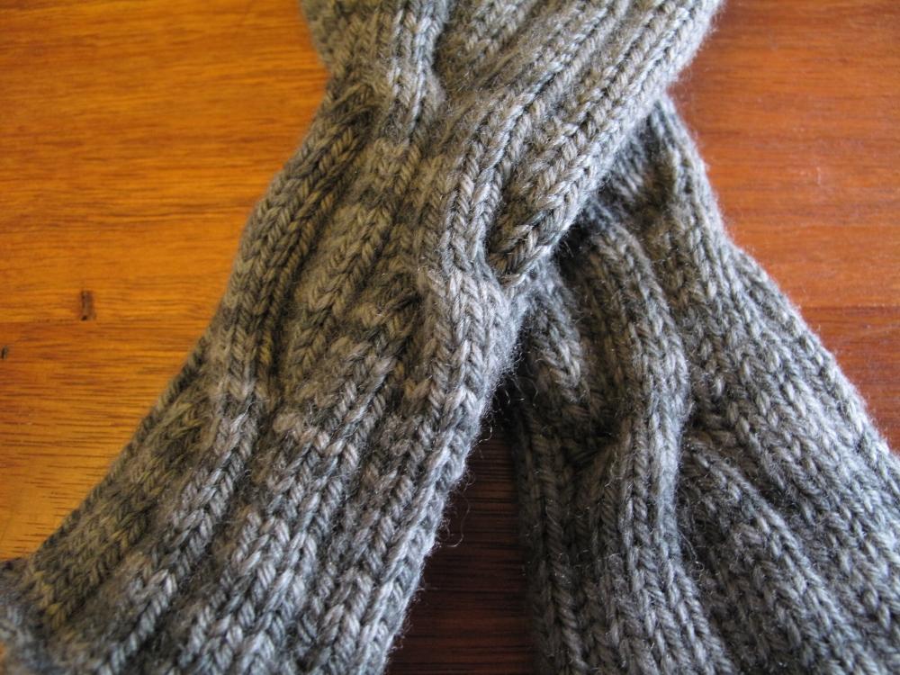 Hand-spun, hand-knit socks (3/4)