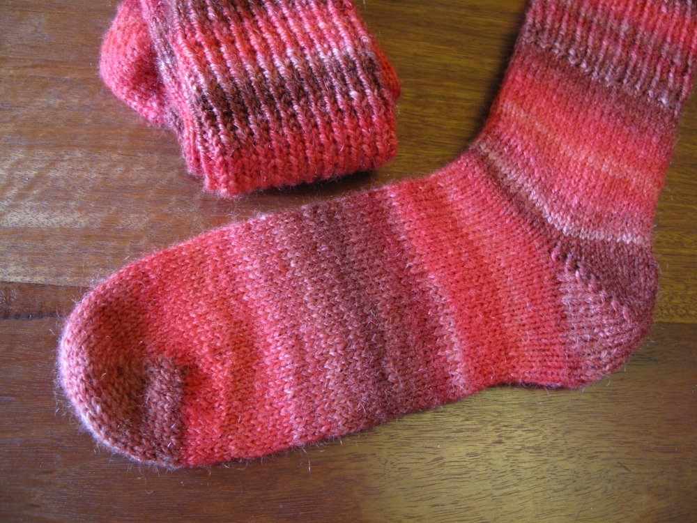 Hand-spun, hand-knit socks (1/4)